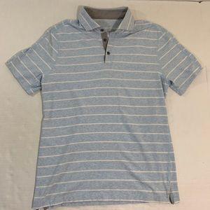 Lululemon Striped Athletic Polo Shirt M
